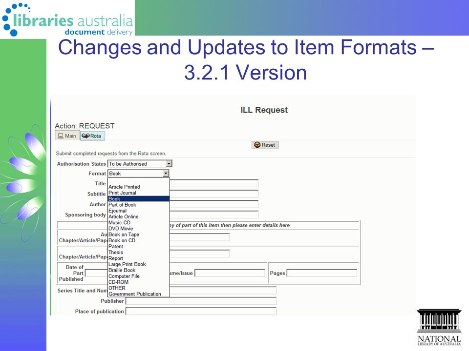 Changes and Updates to Item Formats – 3.2.1 Version