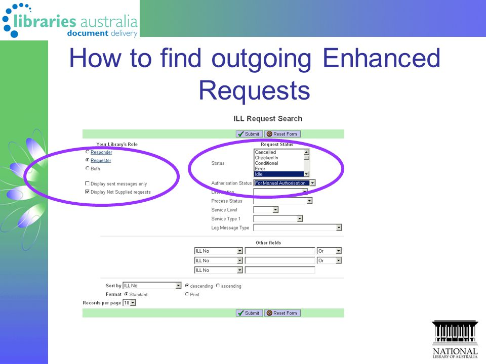 How to find outgoing Enhanced Requests