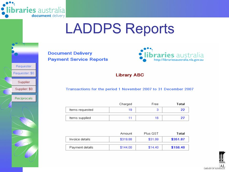 LADDPS Reports