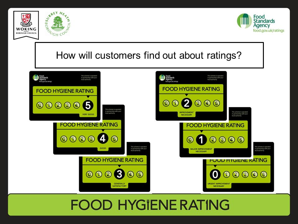 How will customers find out about ratings