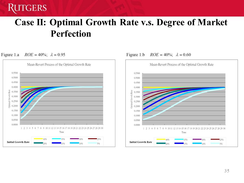 Case II: Optimal Growth Rate v.s. Degree of Market Perfection 35