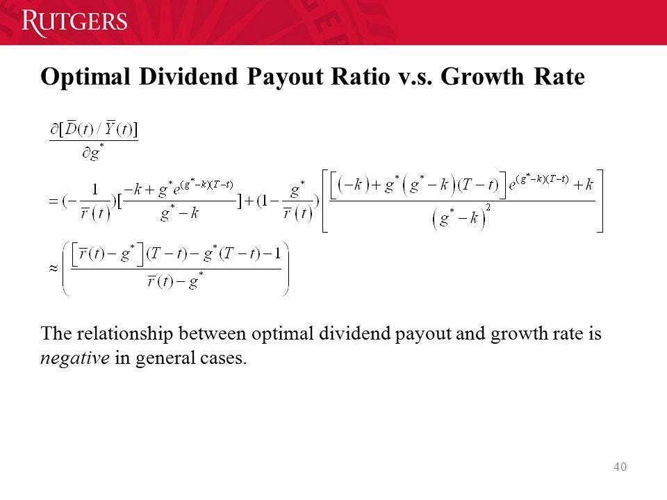 Optimal Dividend Payout Ratio v.s.