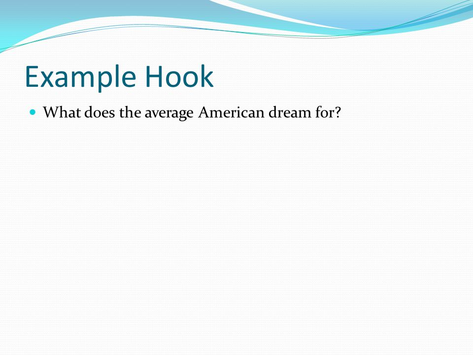 Tag/Background Information Title, Author, Genre For an essay with multiple texts you do not need to include this but the idea of the American Dream was coined by a person so we can use this as a tag Background Information Information that will help the reader understand the context of the essay (location, age, time period, relevance, important words that may be misinterpreted, etc.)