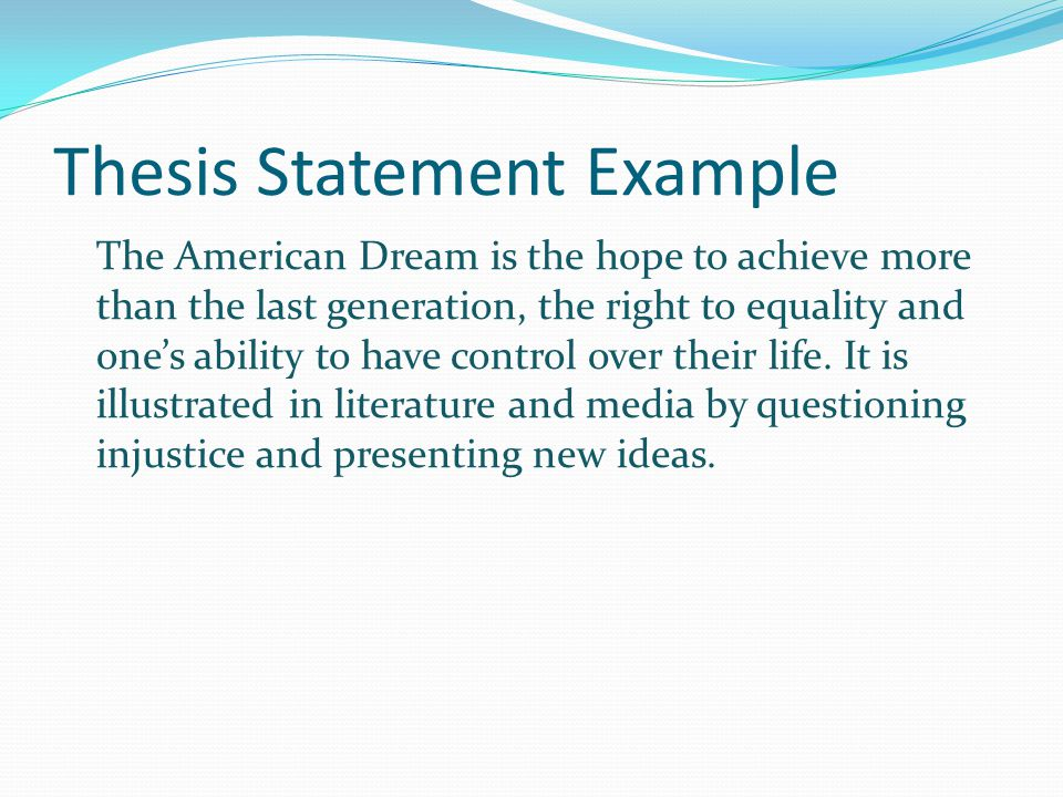 Practice- TS Using your self-practice introduction, write a topic sentence for each of the ideas in your thesis.
