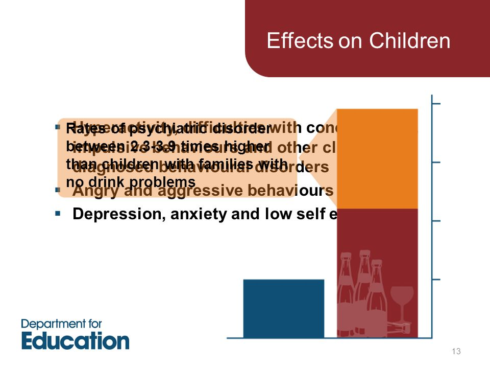  Hyperactivity, difficulties with concentration, impulsive behaviours and other clinically diagnosed behavioural disorders  Angry and aggressive beh