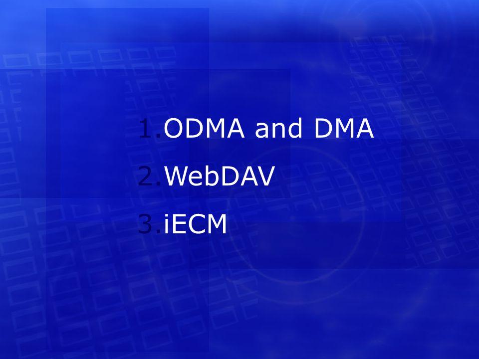 1.ODMA and DMA 2.WebDAV 3.iECM