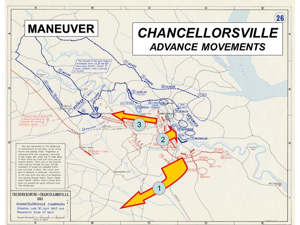 15 CHANCELLORSVILLE ADVANCE MOVEMENTS MANEUVER 1 2 3