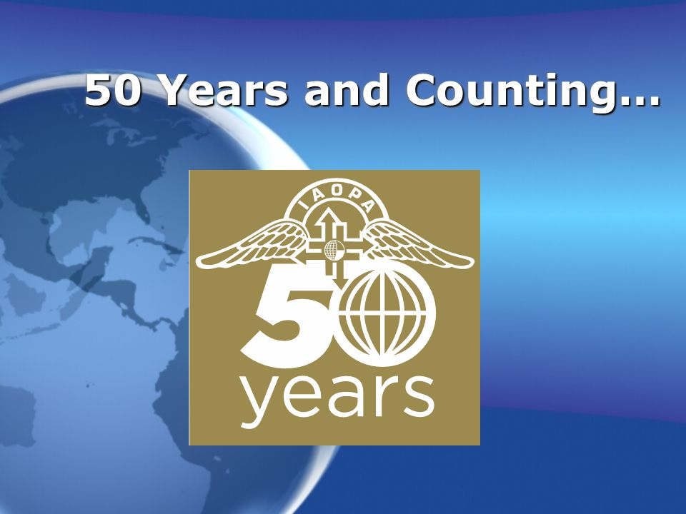 50 Years and Counting…
