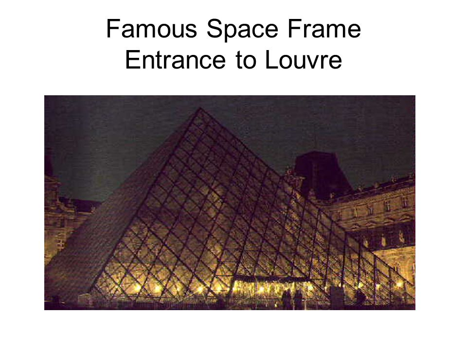 Famous Space Frame Entrance to Louvre