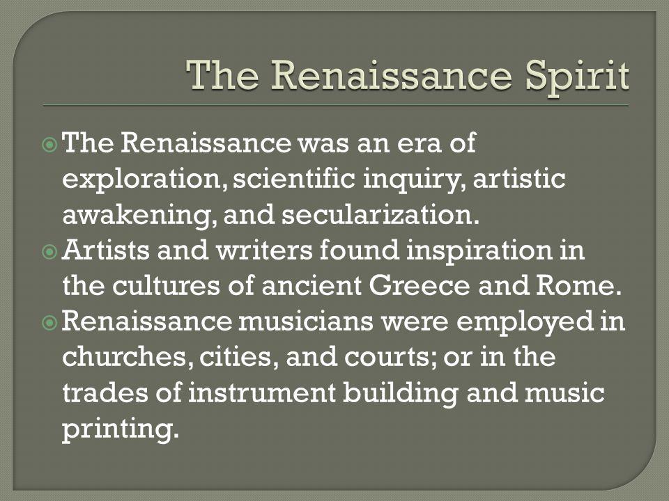 The Italian Madrigal  Chief form of Renaissance secular music.