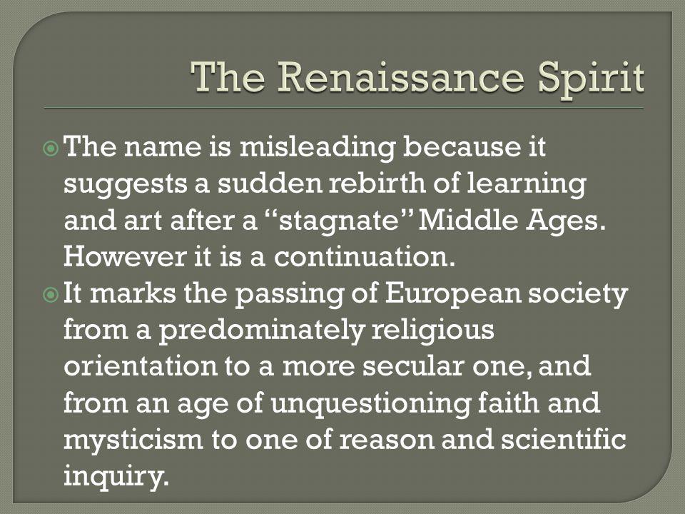 Secular Music In the Renaissance Era