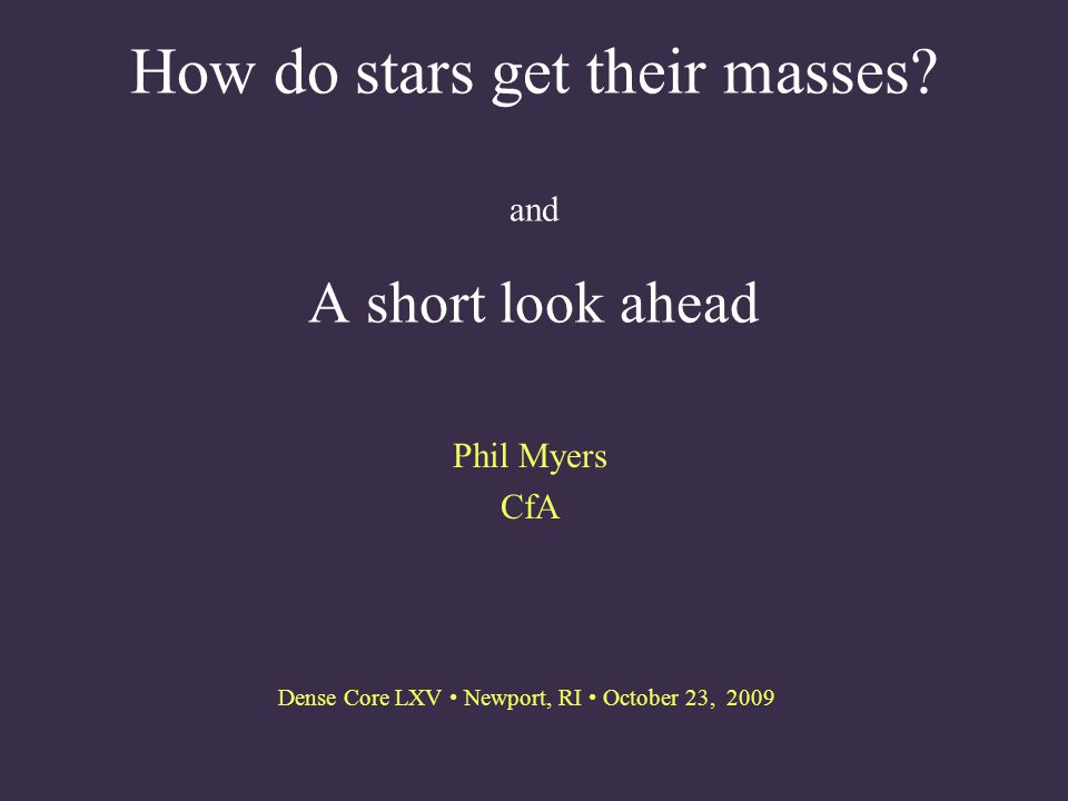 How do stars get their masses.