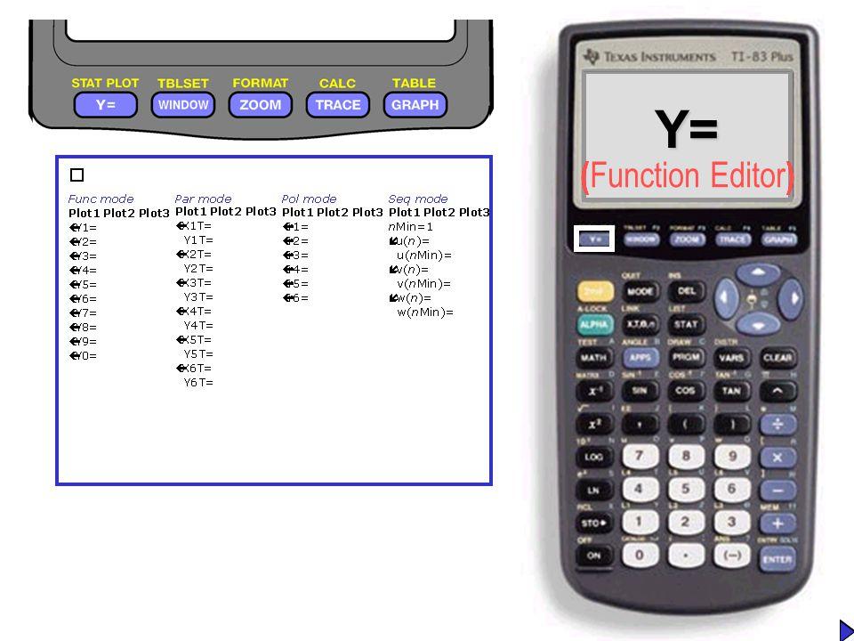 Y=Y= ( Function Editor )