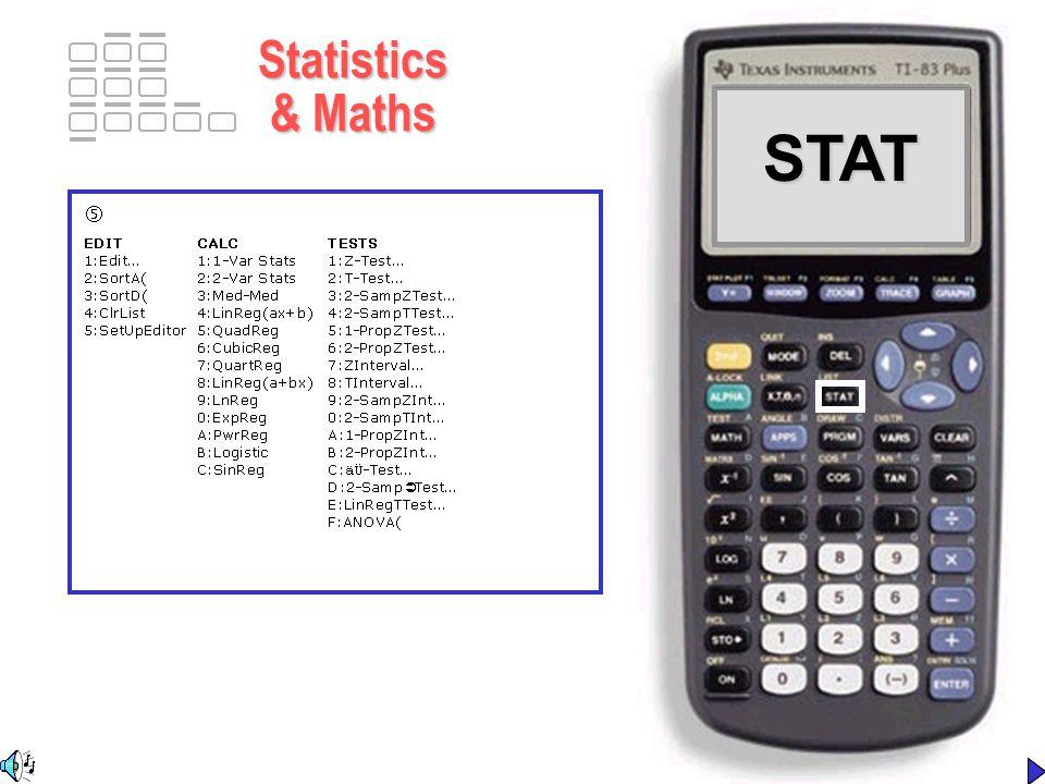 STATSTAT Statistics & Maths