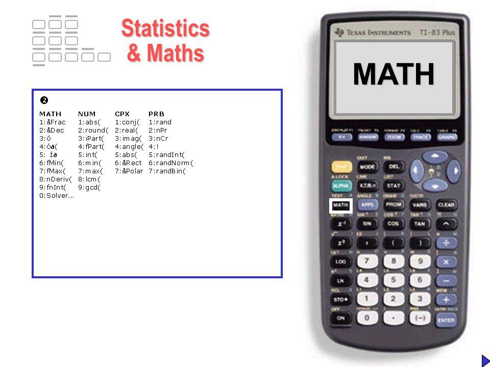 MATHMATH Statistics & Maths