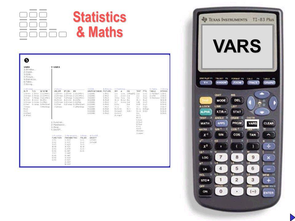 VARSVARS Statistics & Maths