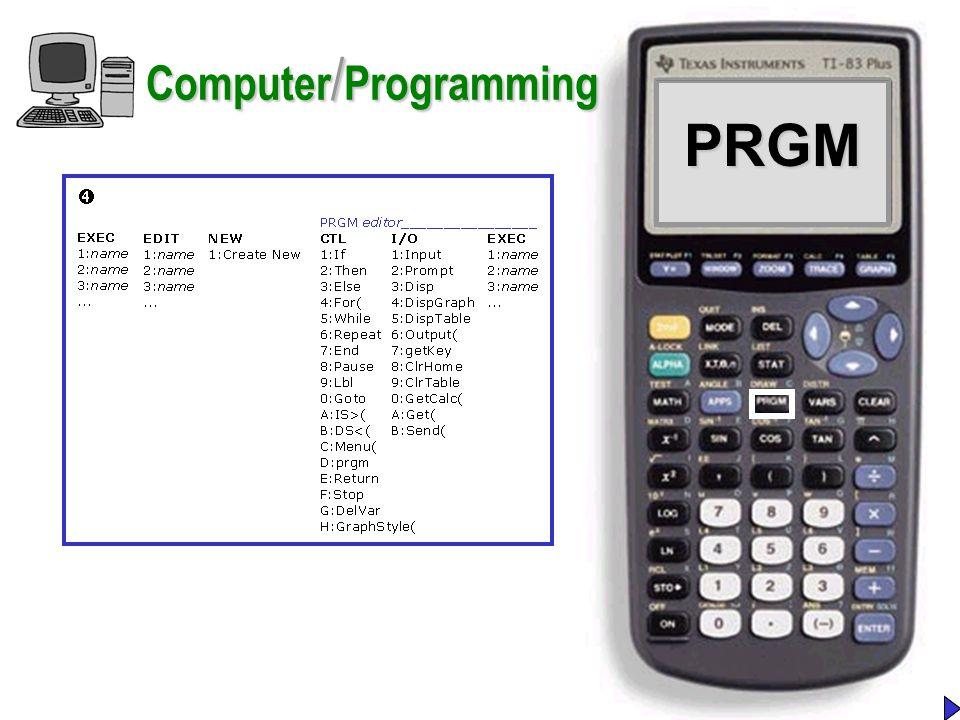 PRGMPRGM Computer / Programming