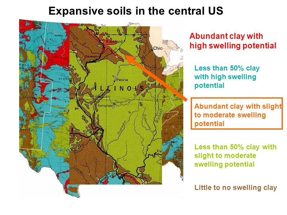 Special design features for expansive soils Brady and Weil, 2002