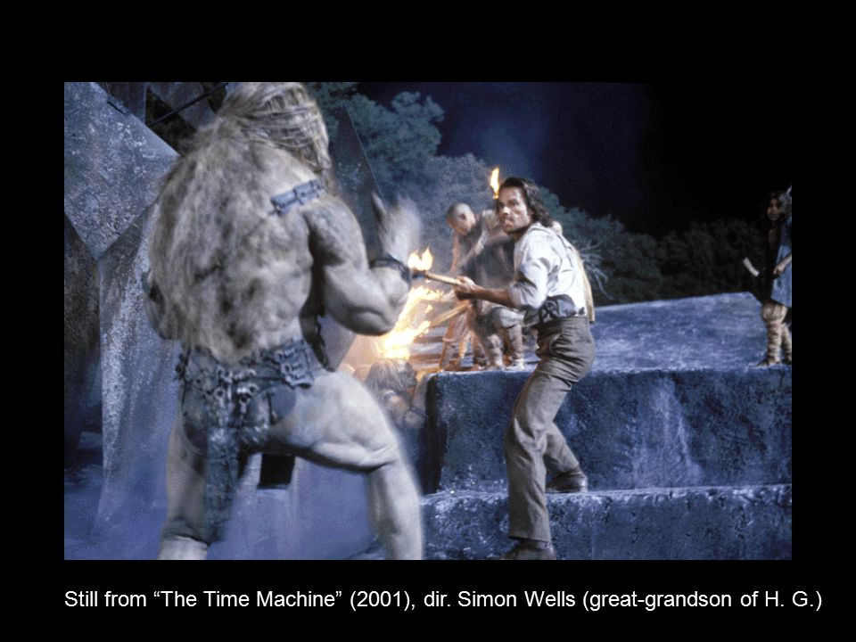 """Still from """"The Time Machine"""" (2001), dir. Simon Wells (great-grandson of H. G.)"""
