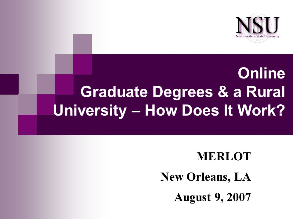 Online Graduate Degrees & a Rural University – How Does It Work.