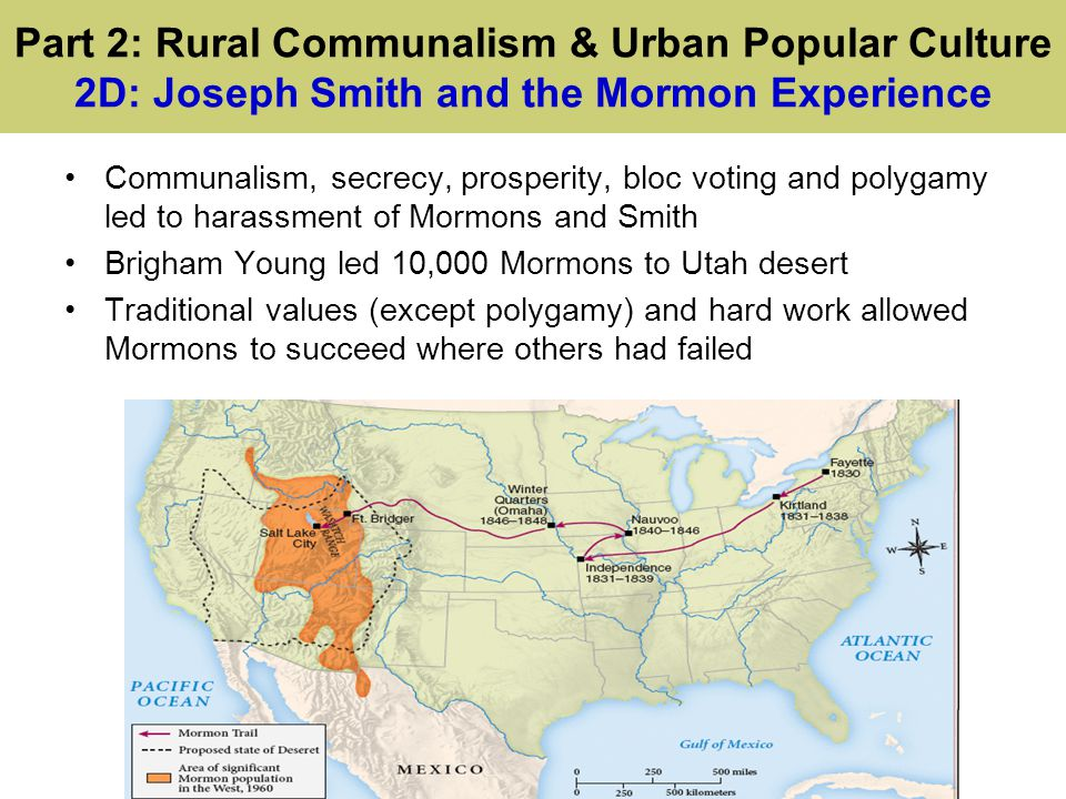 Part 2: Rural Communalism & Urban Popular Culture 2E: Urban Popular Culture Urban popular culture changed dramatically as cities grew from immigration and urbanization Poverty, commercialized sex, prostitution, and new forms of entertainment characterized this new culture Nativist backlash arose against immigrants in 1830s