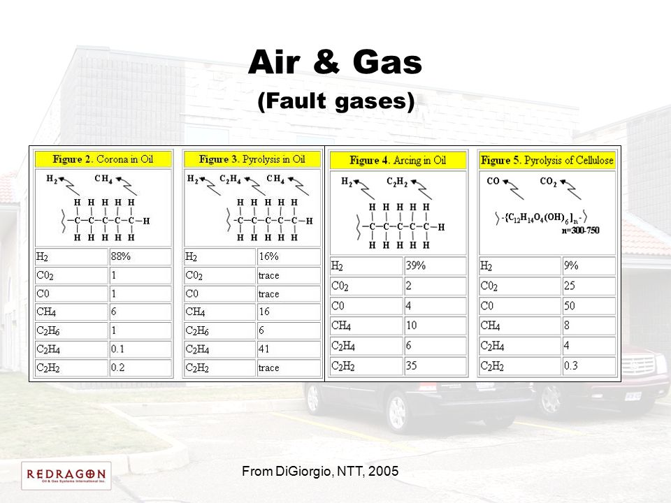 Air & Gas From DiGiorgio, NTT, 2005 (Fault gases)