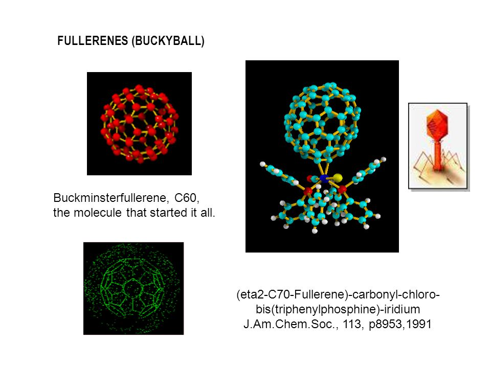 Buckminsterfullerene, C60, the molecule that started it all.