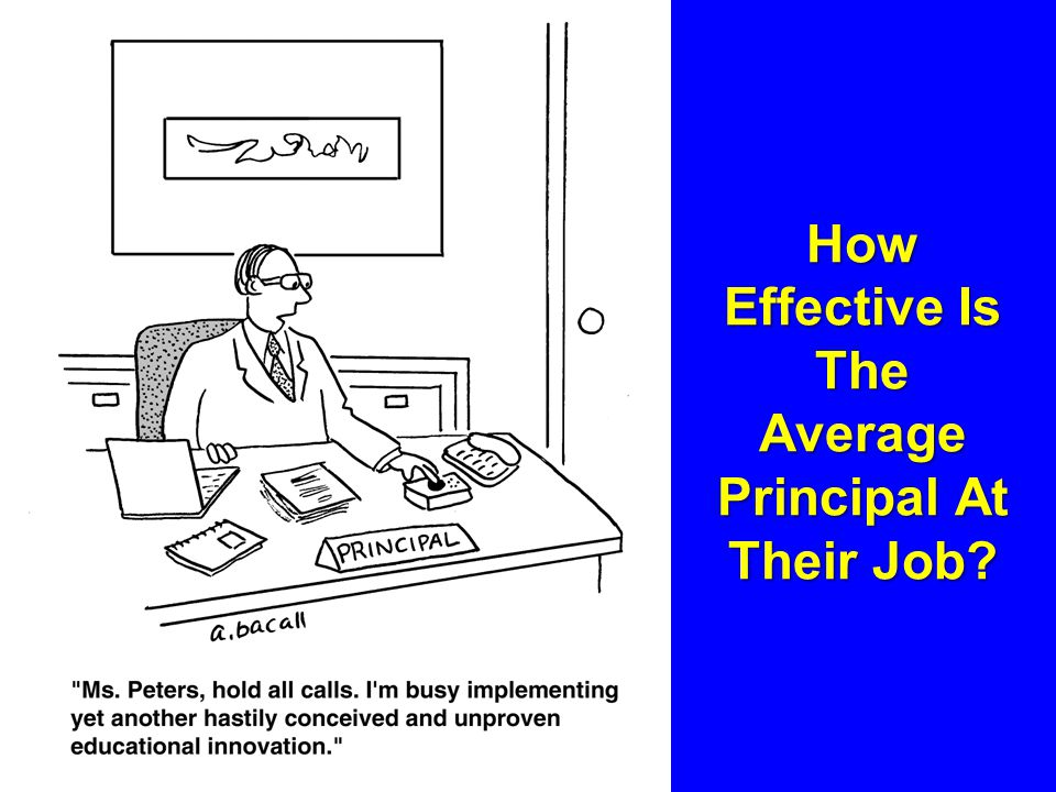 How Effective Is The Average Principal At Their Job?