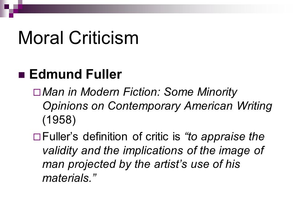 DEFINITION OF CRITICISM?