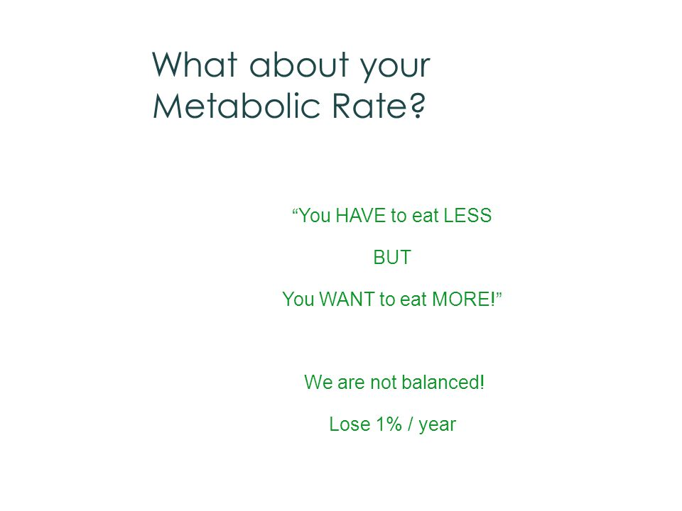 What about your Metabolic Rate.