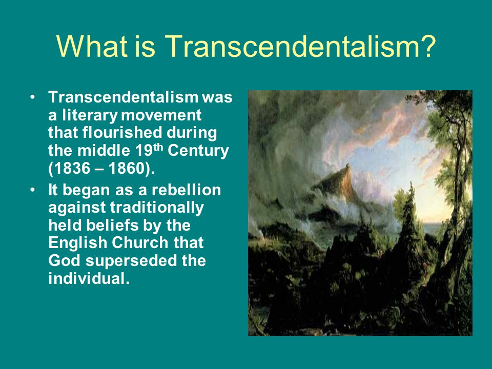 What does transcendentalism mean.