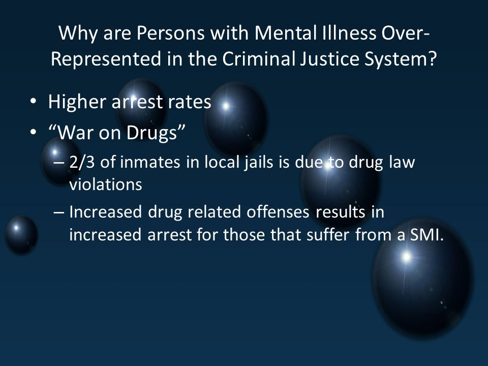 Why are Persons with Mental Illness Over- Represented in the Criminal Justice System.