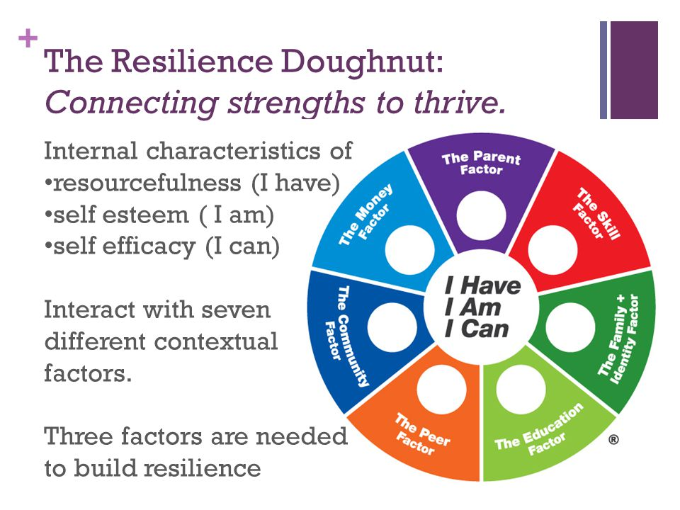 + The Resilience Doughnut: Connecting strengths to thrive.