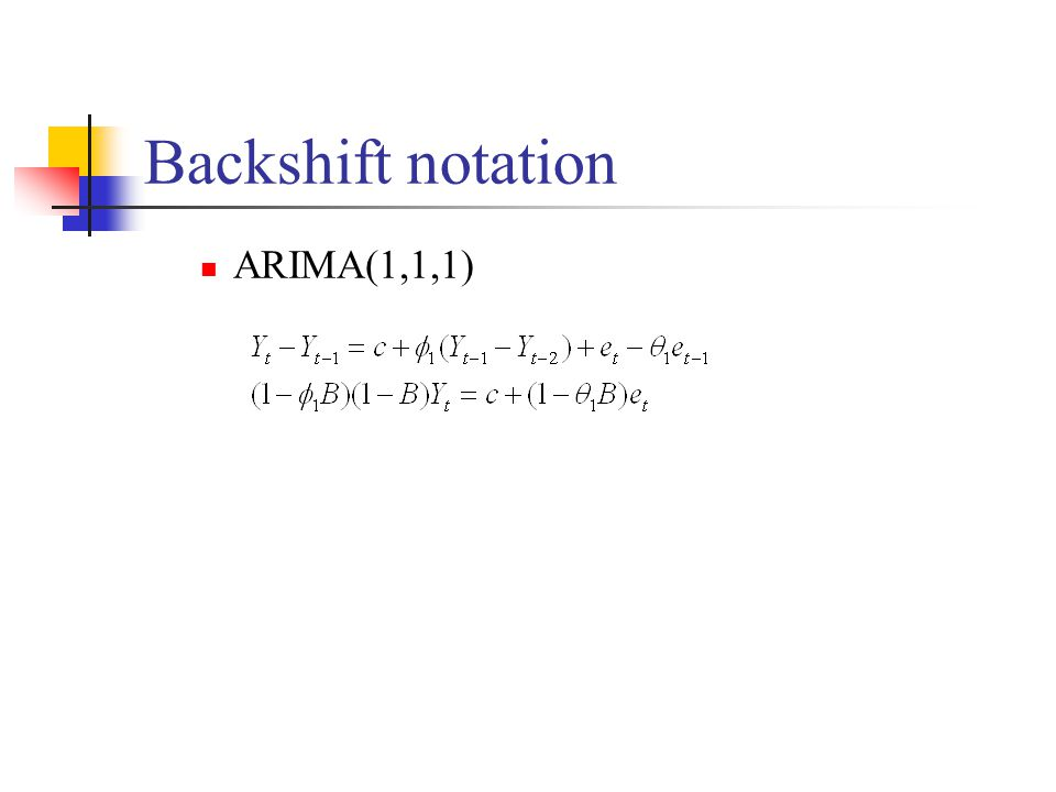 Backshift notation ARIMA(1,1,1)