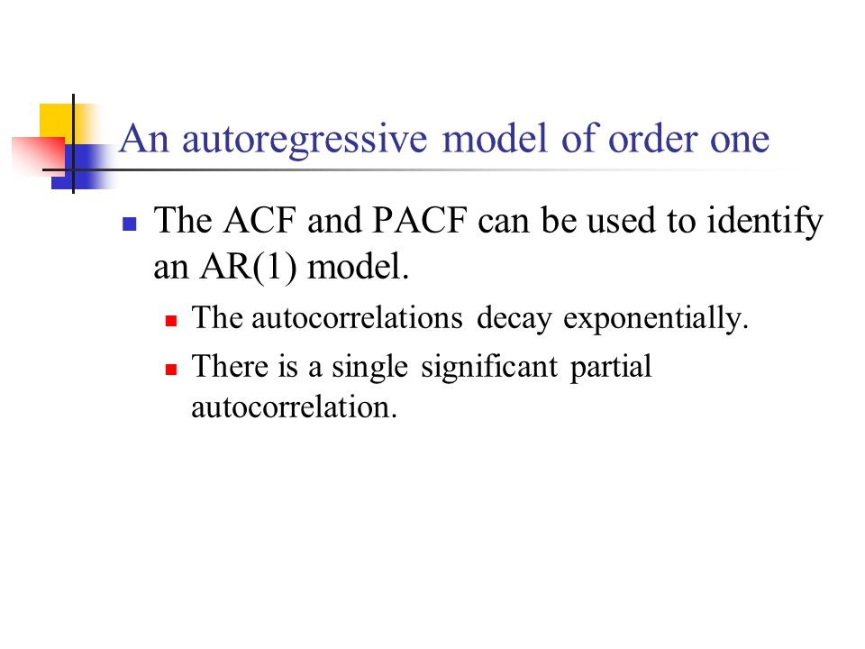 The ACF and PACF can be used to identify an AR(1) model.