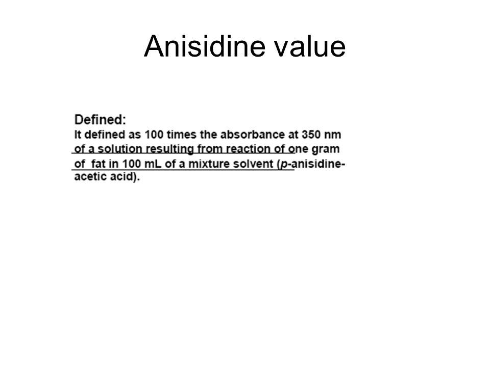 Anisidine value