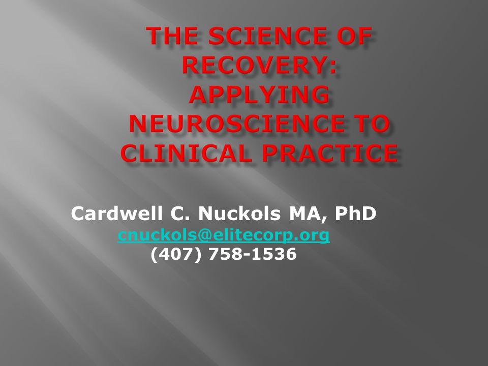 Cardwell C. Nuckols MA, PhD cnuckols@elitecorp.org (407) 758-1536