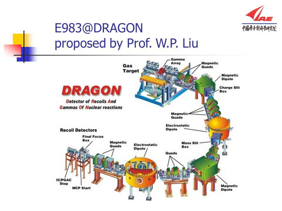 E983@DRAGON proposed by Prof. W.P. Liu
