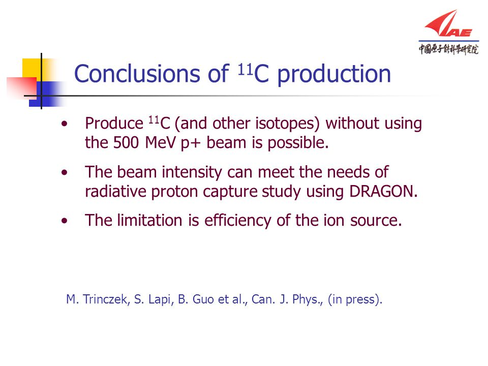 Produce 11 C (and other isotopes) without using the 500 MeV p+ beam is possible.