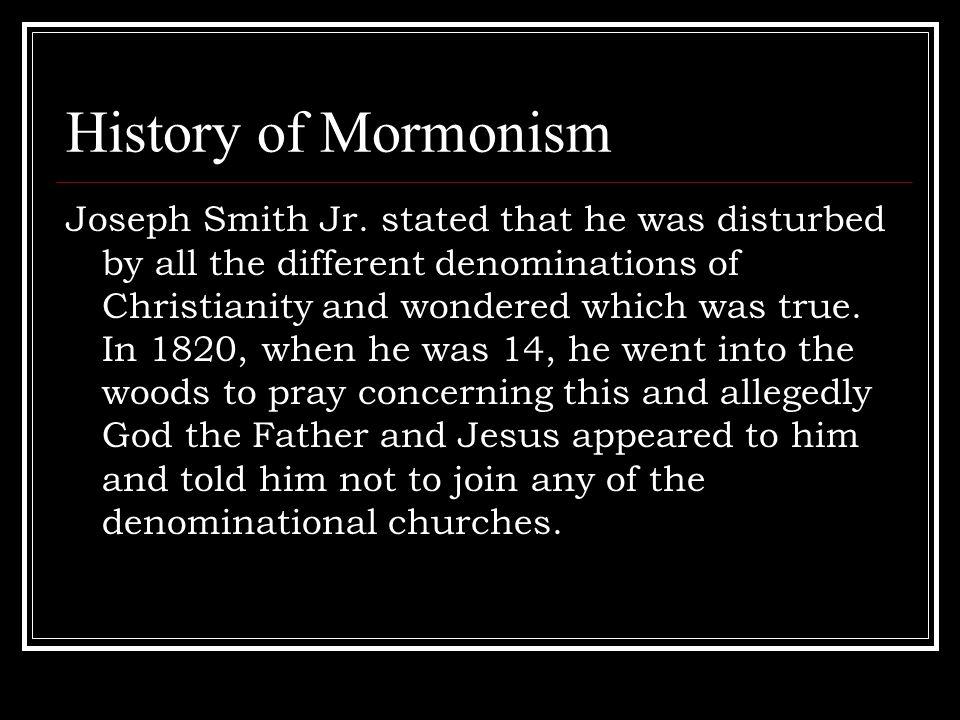 History of Mormonism Joseph Smith Jr.