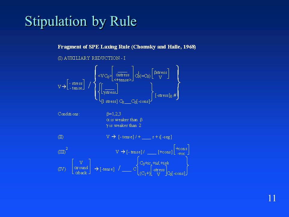 11 Stipulation by Rule