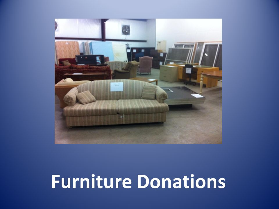 Furniture Donations