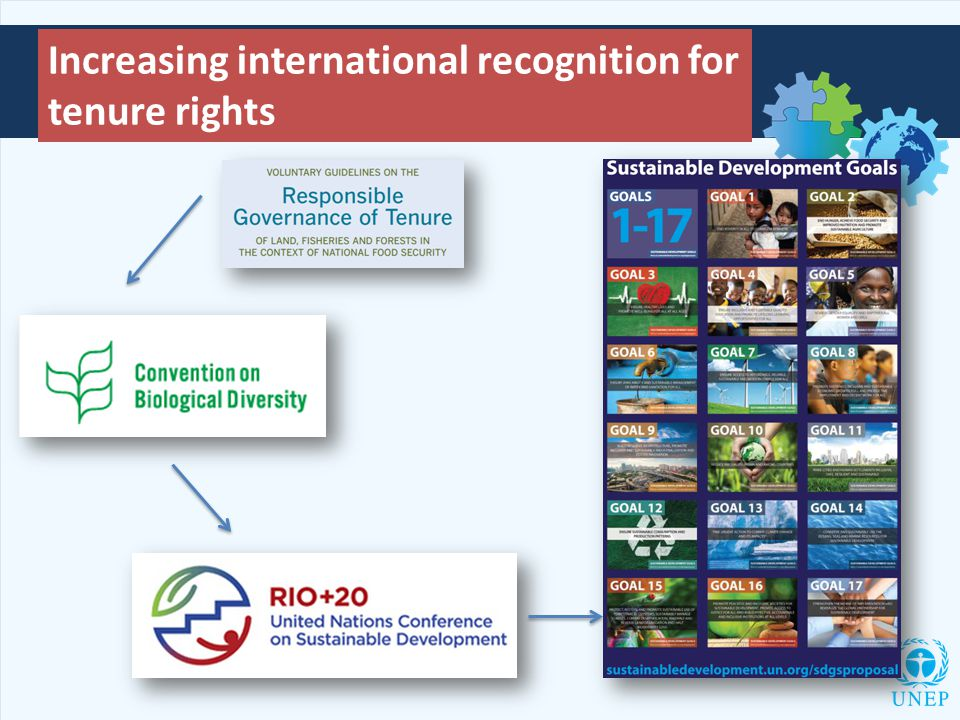 Increasing international recognition for tenure rights