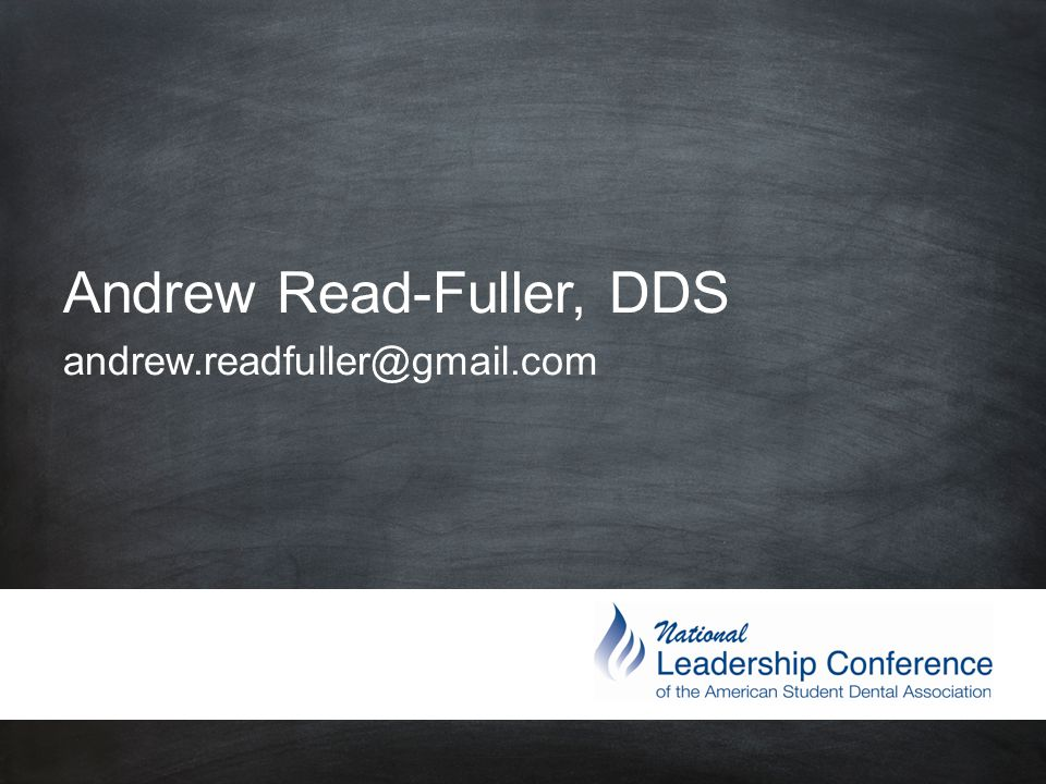 #ASDAnet @ASDAnet Andrew Read-Fuller, DDS andrew.readfuller@gmail.com