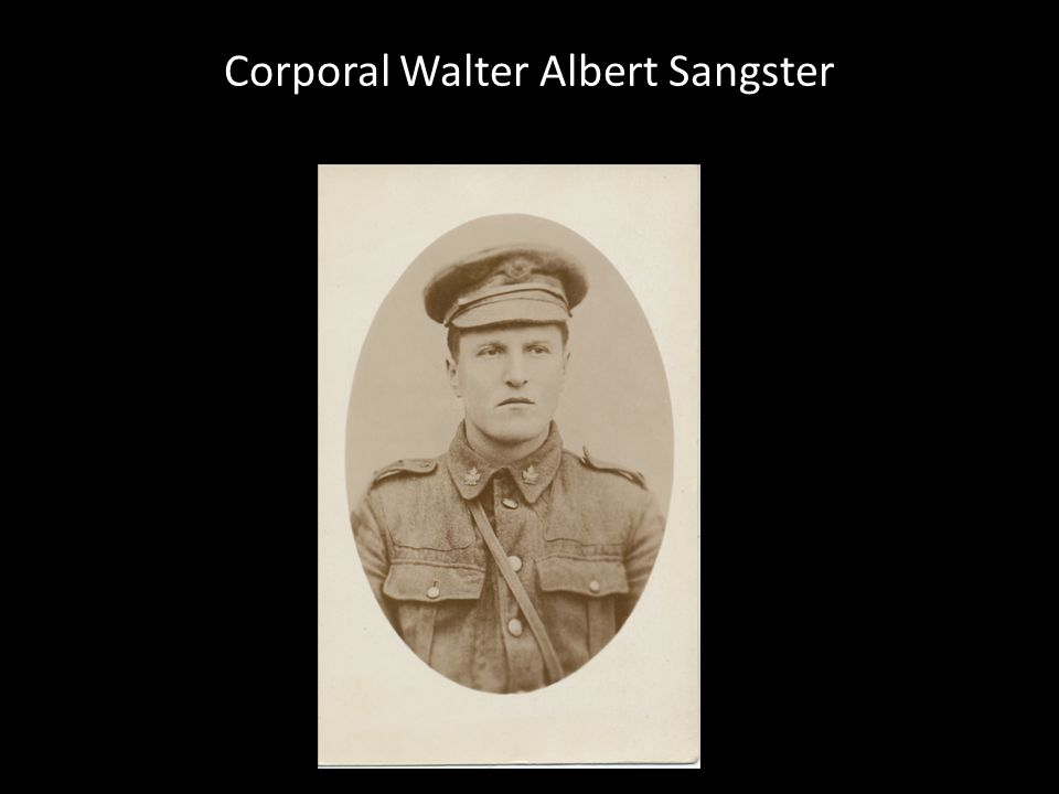 Corporal Walter Albert Sangster