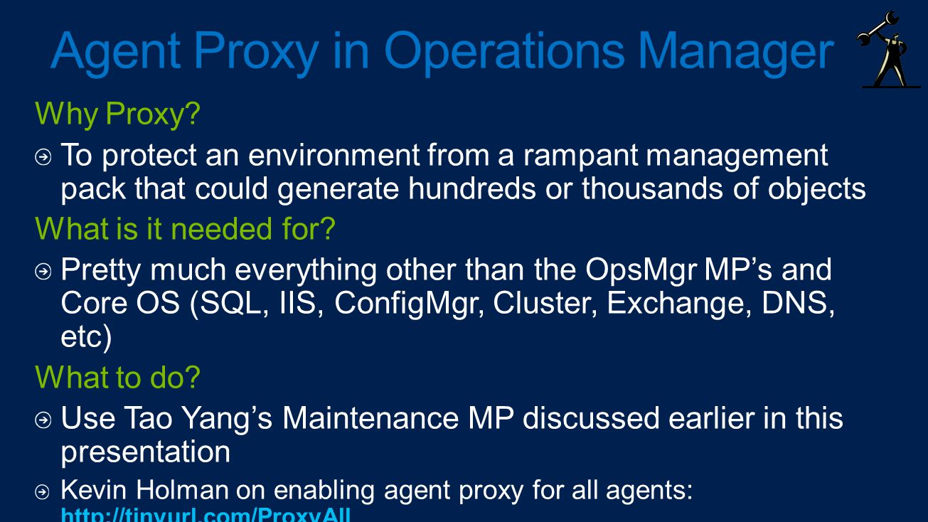 Agent Proxy in Operations Manager