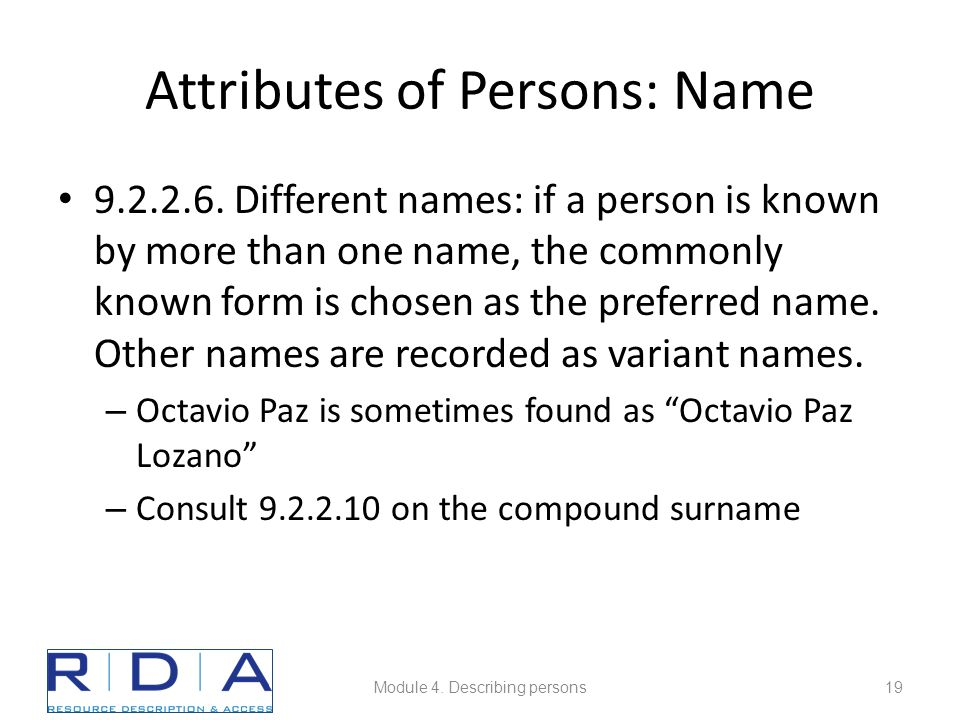 Attributes of Persons: Name 9.2.2.6.