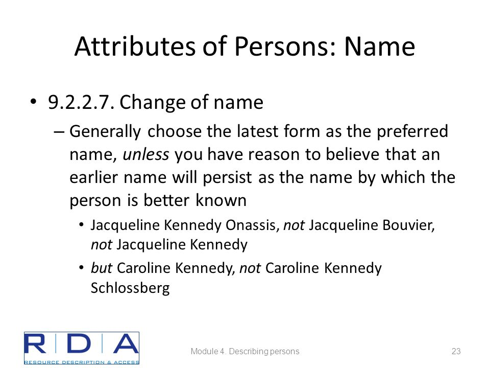 Attributes of Persons: Name 9.2.2.7.