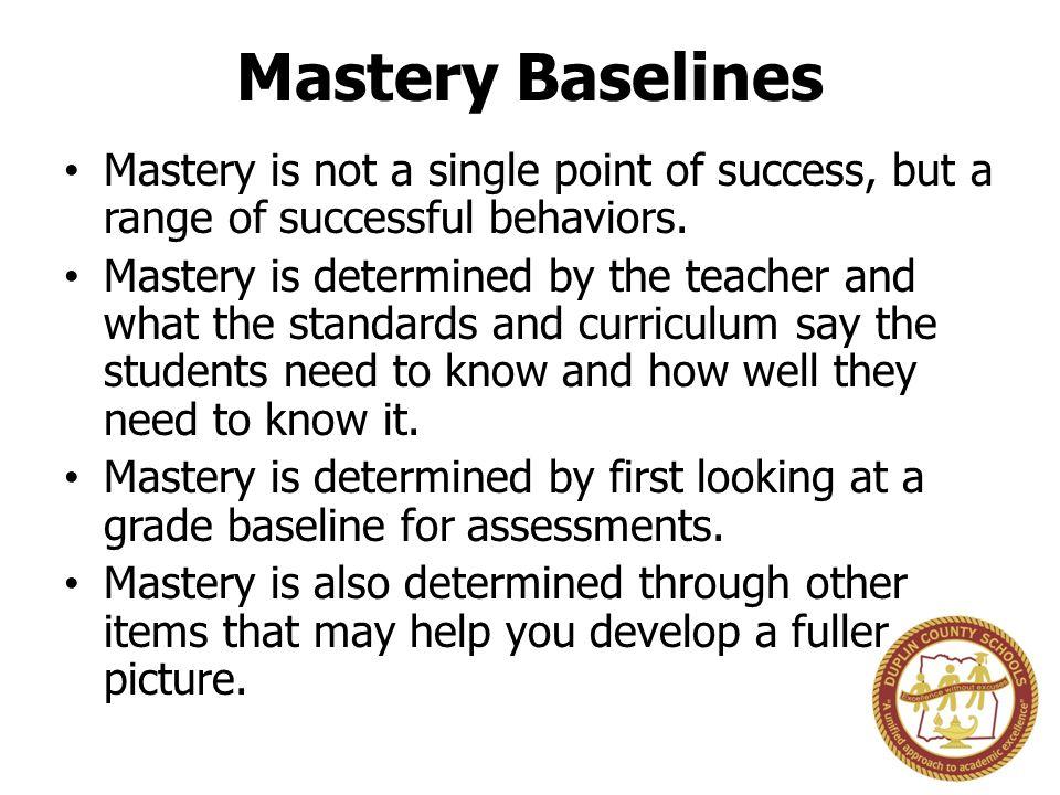 Mastery Target Mastery Proficiency Minimal Basic No Understanding