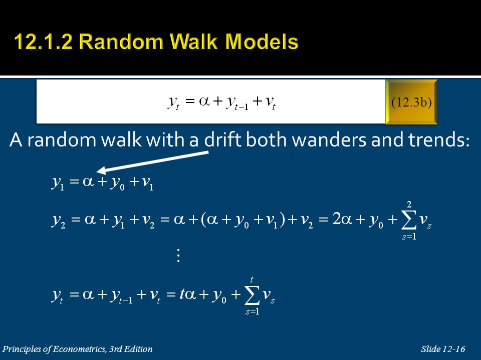 A random walk with a drift both wanders and trends:
